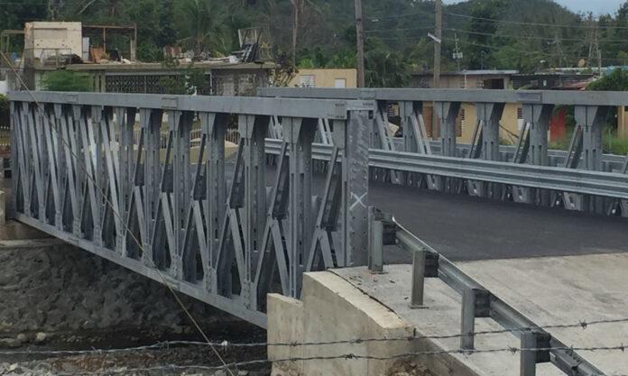 Nuevo puente de la carretera 512 en el sector Agustinillo del barrio Collores de Juana Díaz. (Suministrada)