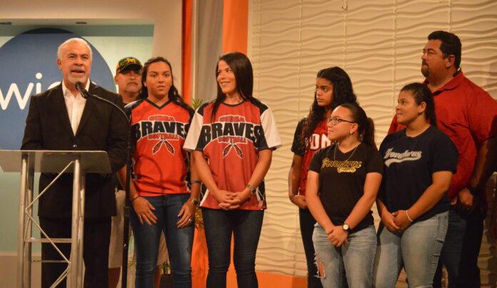 Varias de las jugadoras participaron de la conferencia en la que se ofreció detalles de la temporada.