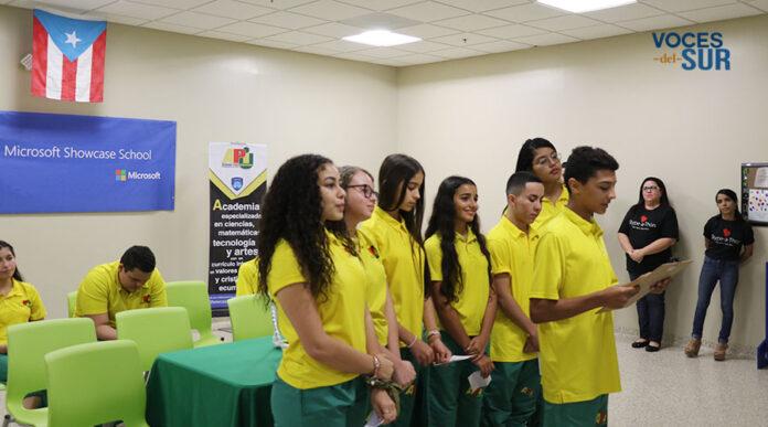 Un grupo de estudiantes de la Academia Ponce Interamericana participaron en el Skype-a-Thon 2018 de Microsoft. (Voces del Sur / Pedro A. Menéndez Sanabria)