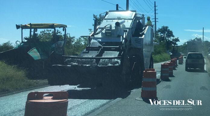 Repavimentación de carretera. (Voces del Sur)