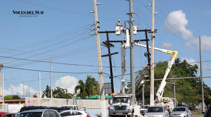 Brigada de la Autoridad de Energía Eléctrica. (Voces del Sur)