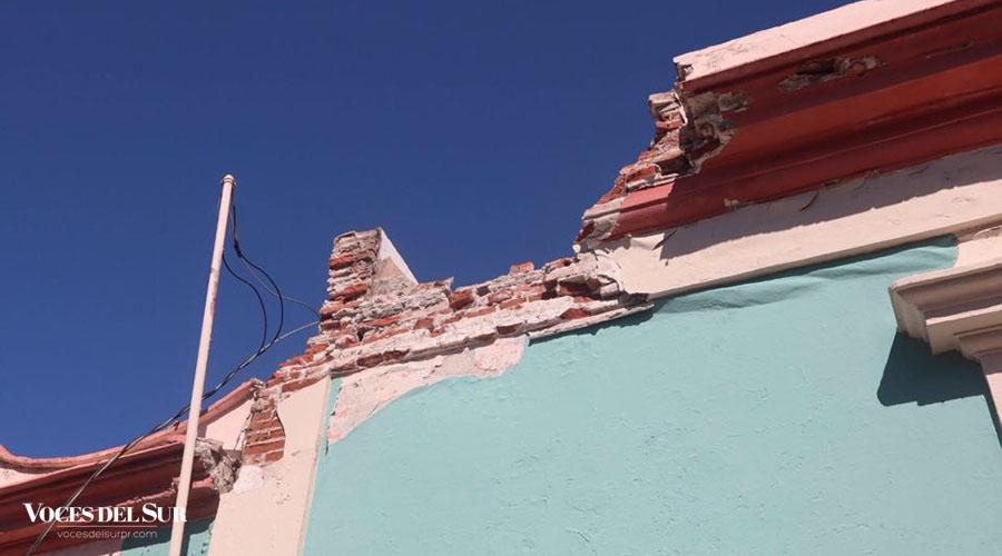 La estructura por el sismo de magnitud 6.4 ocurrido el 7 de enero. (Voces del Sur / Sara R. Marrero Cabán)