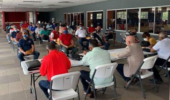 Reunión extraordinaria de la Junta de Directores de la Federación de Béisbol de Puerto Rico. (Suministrada)