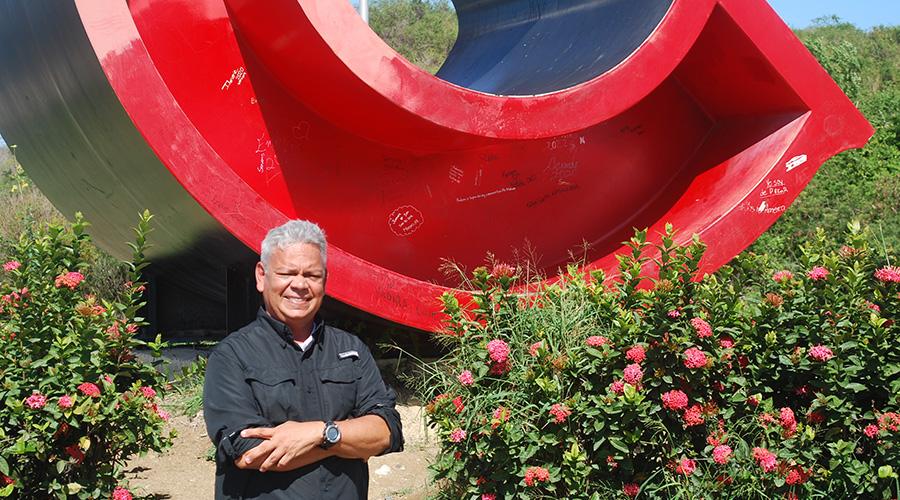 Carlos A. Rivera Villafañe, creador de las Letras de Ponce. (Suministrada)