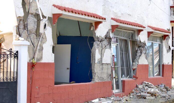 El edificio Martinó ha sido afectado por la actividad sísmica. (Suministrada)