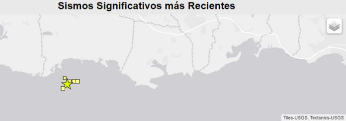 Los temblores han ocurrido al Sur de la costa de Lajas.