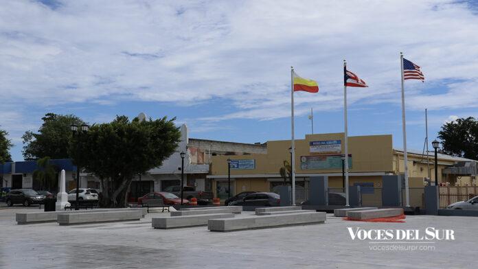 Plaza pública de Santa Isabel. (Voces del Sur / Michelle Estrada Torres)