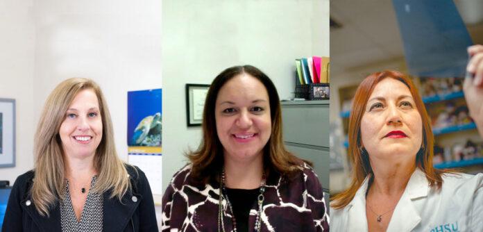 Las científicas Caroline Appleyard, Annelyn Torres-Reverón e Idhaliz Flores. (Suministrada)