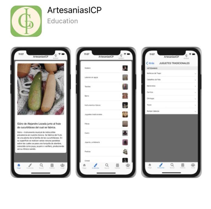 La aplicación ArtesaníasICP está disponible para teléfonos con sistema operativo Android y iOS. (Suministrada)