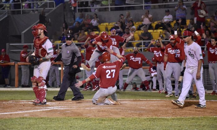 Acción de la Liga de Béisbol Superior Doble A.